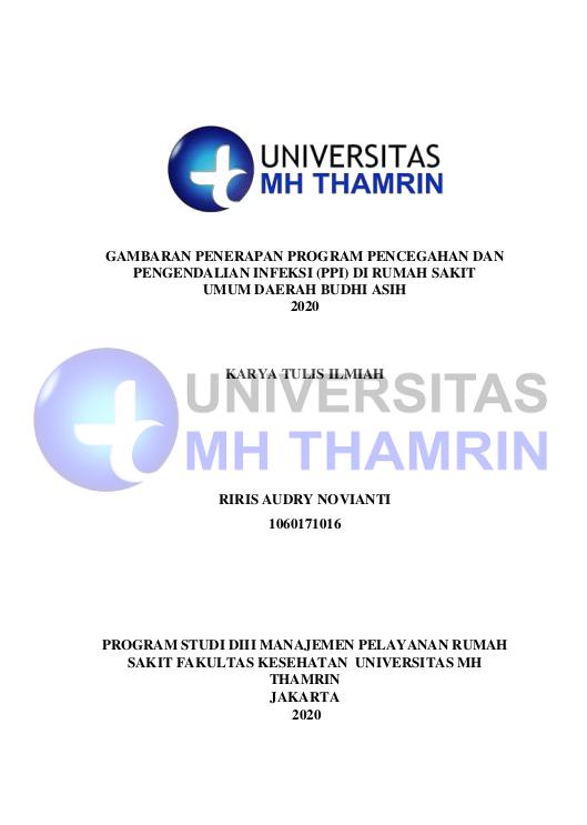 Gambaran Penerapan Program Pencegahan Dan Pengendalian Infeksi (Ppi) Di Rumah Sakit Umum Daerah Budi Asih 2020